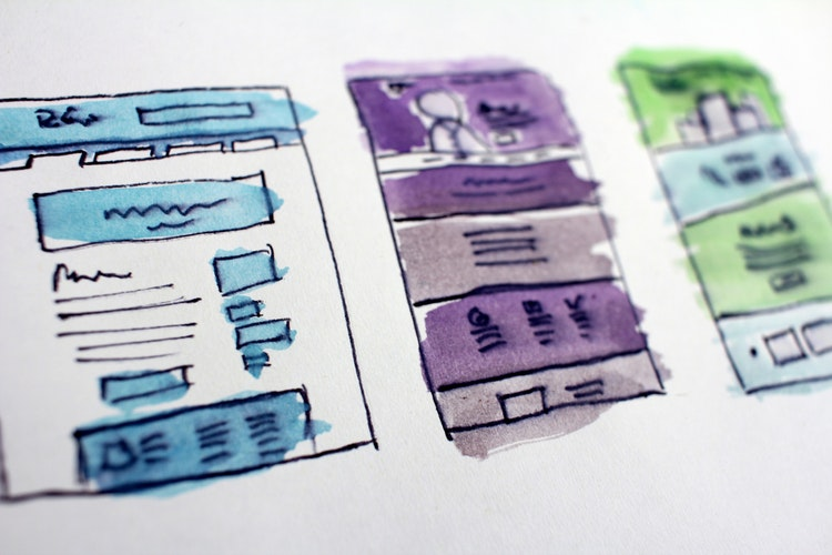 sketch of website wireframe